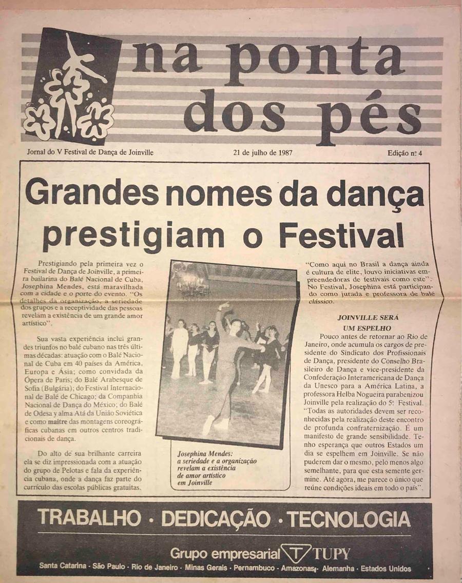 a8e1b54f02 Jornal – Prestigiam o festival – 5º Festival de Dança de Joinville ...